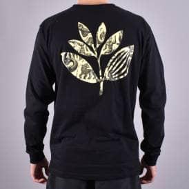 35a2b228 Zoo Plant Long Sleeve Skate T-Shirt- Black