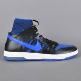 Zoom Dunk High ELT QS Kevin Terpening Skate Shoes - Black/Racer Blue-Sail