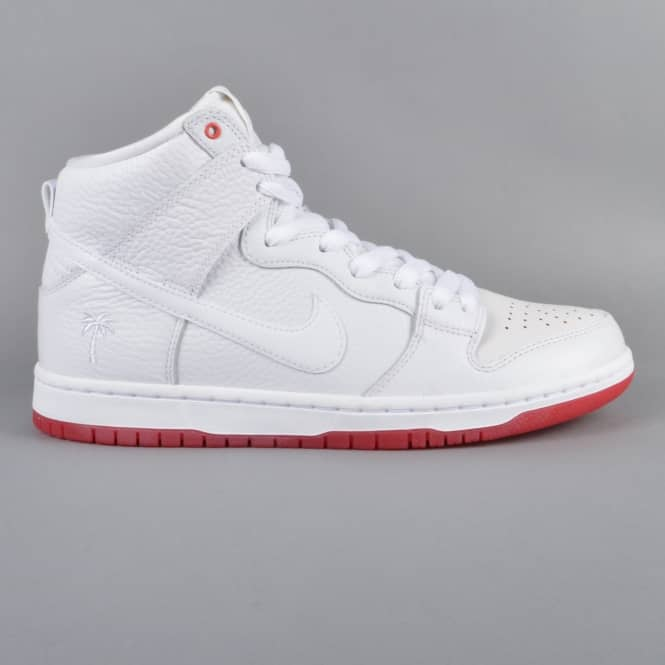 Nike SB Zoom Dunk High Pro Kevin Bradley QS Skate Shoes - White/White/University Red