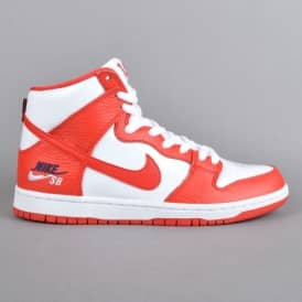 Zoom Dunk High Pro Skate Shoes - University Red/University Red-White