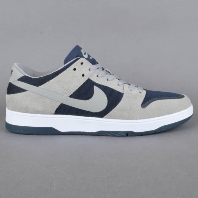 43a27636e214b6 Zoom Dunk Low Elite Skate Shoes - Medium Grey Dark Obsidian-White Medium