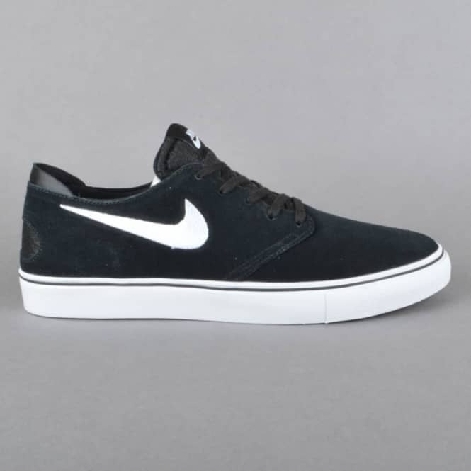 Nike SB Zoom Oneshot SB Skate Shoes - Black/White-Gum Light Brown